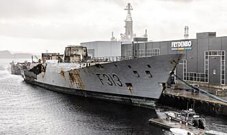 Kan få 10-12 millioner kroner for salg av skrapjern fra fregatten Helge Ingstad