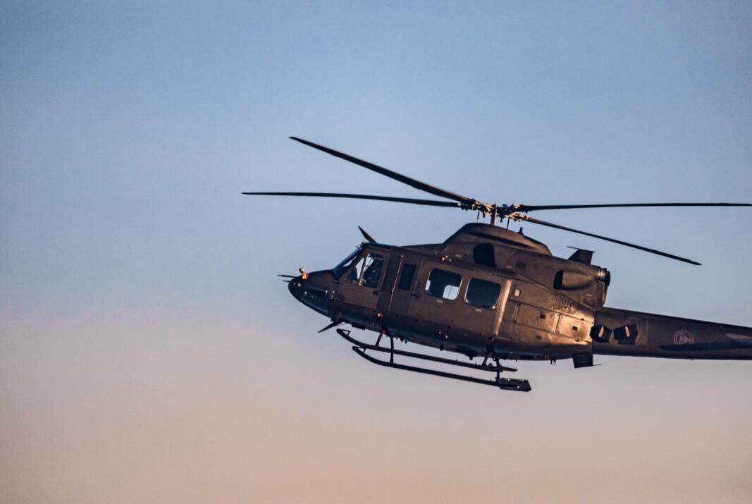 TIL OSLO: To helikoptre av typen Bell 412 stod klare til å bistå politi og andre nødetater.