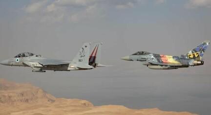 Tyske jagerfly fløy over Jerusalem
