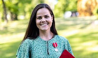 Jennie-Lovise Nordheim Bjerke savner enkelheten i uniformsantrekket og gråter når kong Harald taler