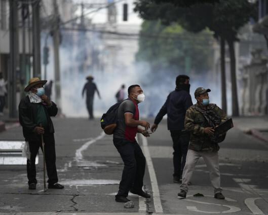 Veteraner angrep Guatemalas nasjonalforsamling