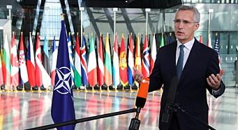 Nato-sjefen: – Vi må være sikre på at vi har utstyr og materiell vi trenger