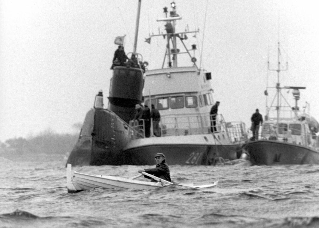Da en russisk ubåt ble landkrabbe