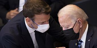 Biden og Macron diskuterte styrking av Europas forsvar
