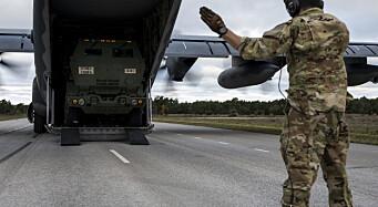 Amerikanske spesialstyrker landet på svensk motorvei og gjorde klart til å skyte med langtrekkende artilleri