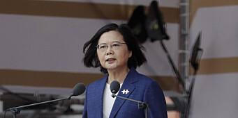 Taiwans president sier hun stoler på USAs støtte